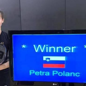 Petra Polanc zmagovalka mešanih dvojic na Portugalskem